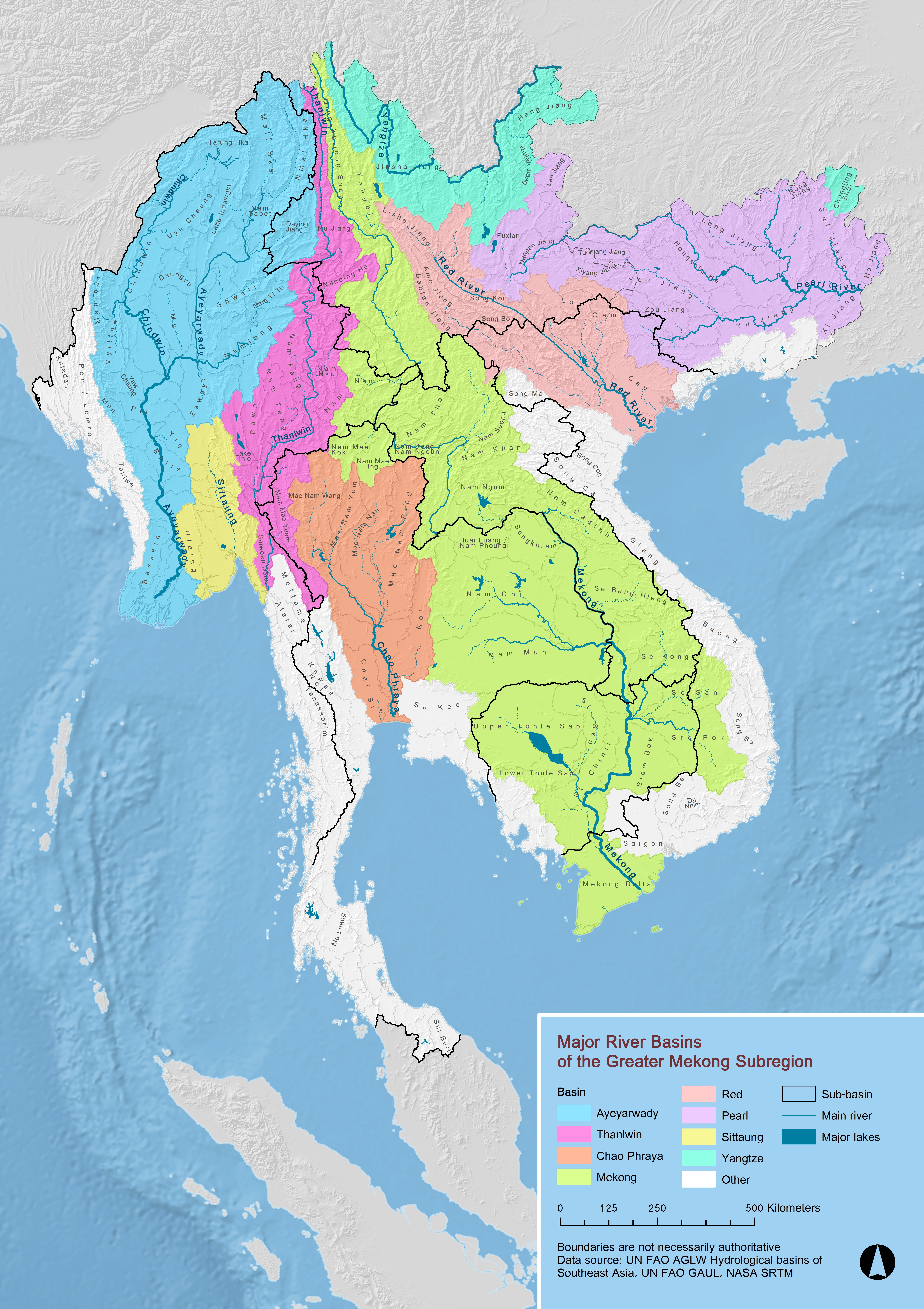 Maps - River basins of the world